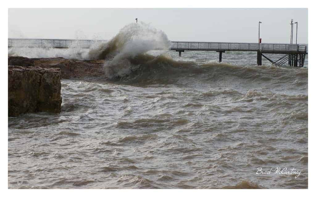 Nightcliff jetty during monsoonal storms