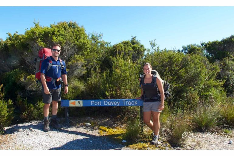 The end of the Port Davey Track