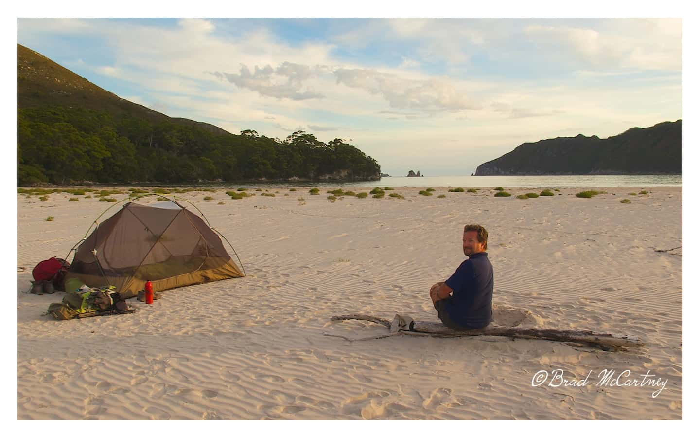 camping on the beach south west tasmania