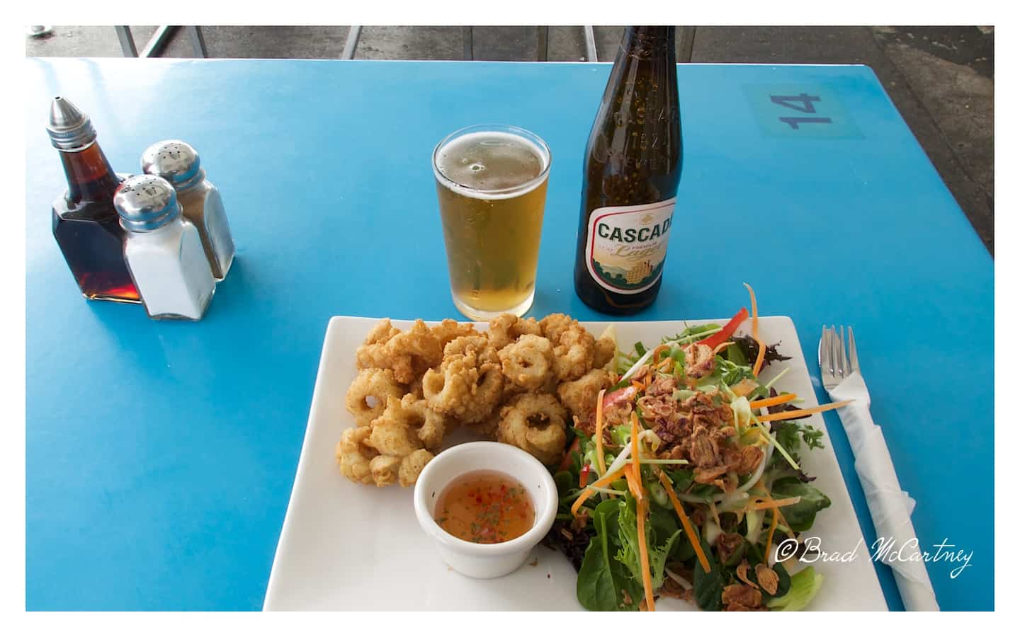 Salt and Pepper Squid at one of the many dockside eateries