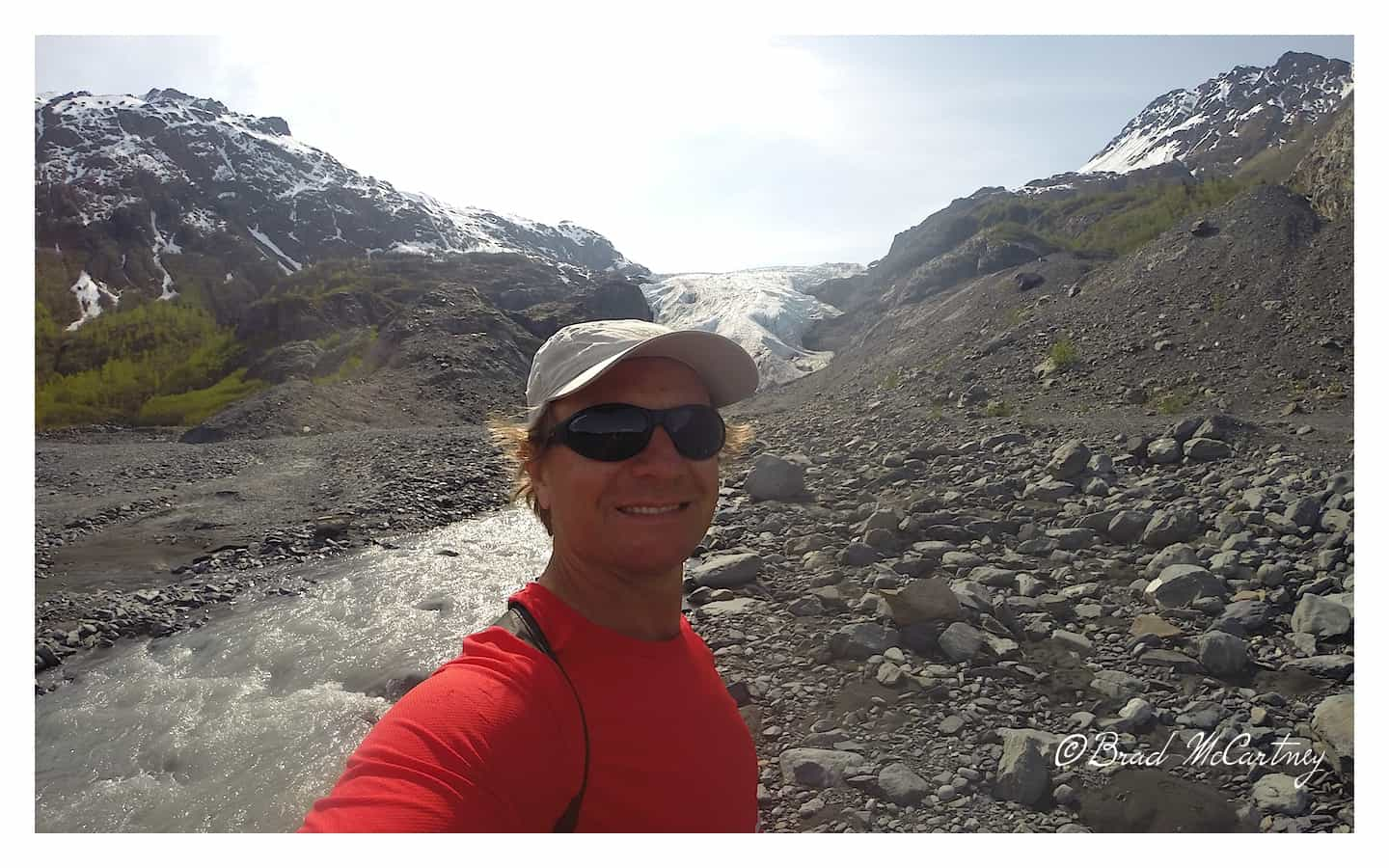 This is about where the glacier ended in May 1997