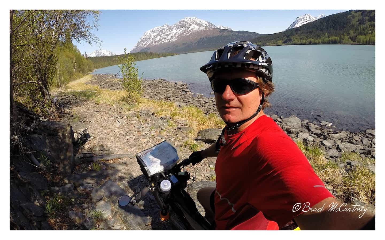 Johnson Pass Trail just before the broken pannier