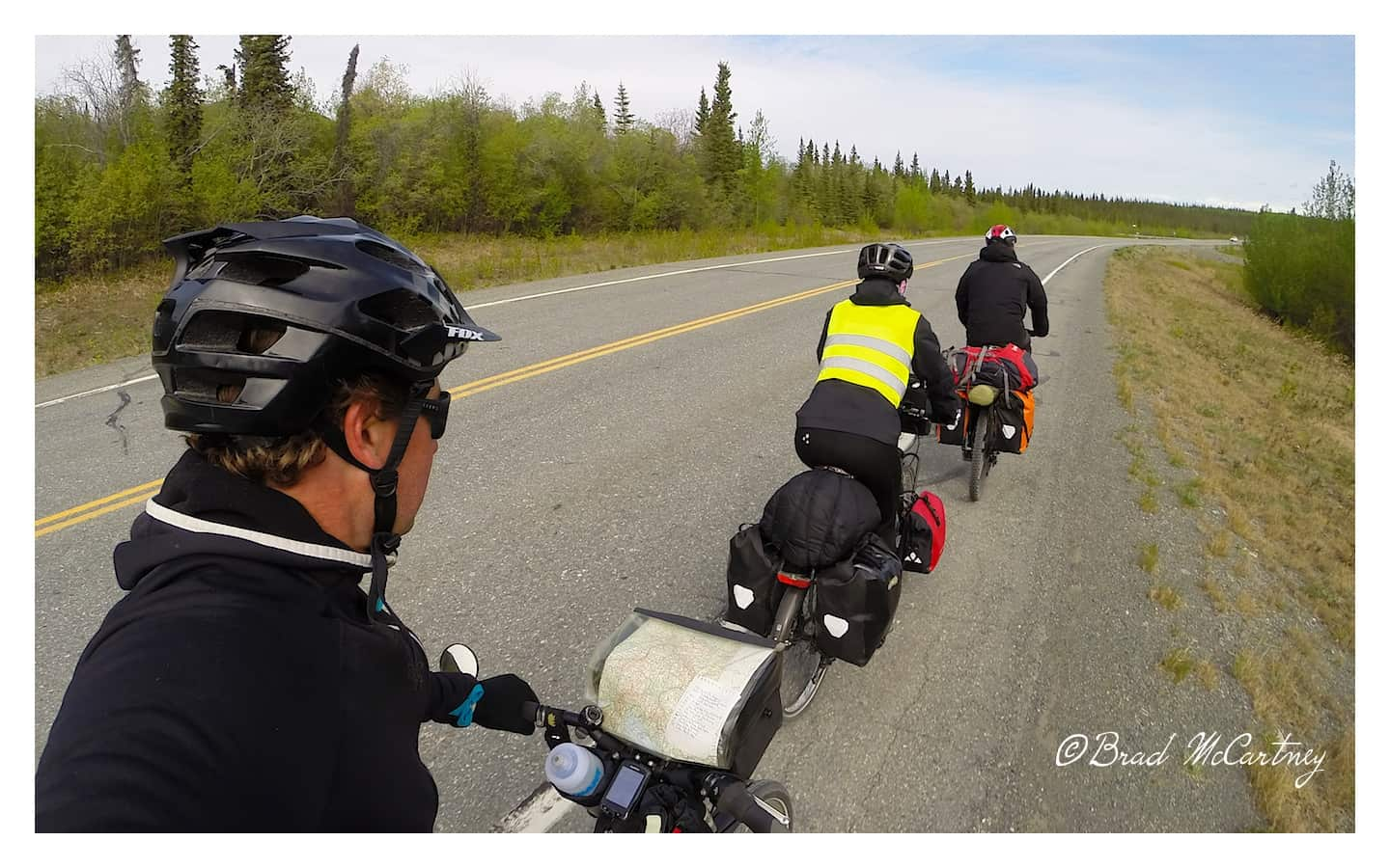 Riding into strong wind on the Richardson Highway its so much easier being at the back