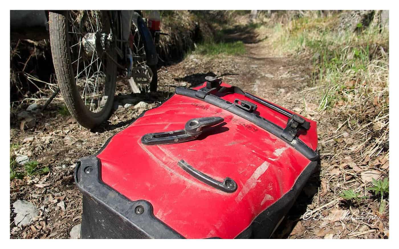 Broken mount on the Johnson Trail