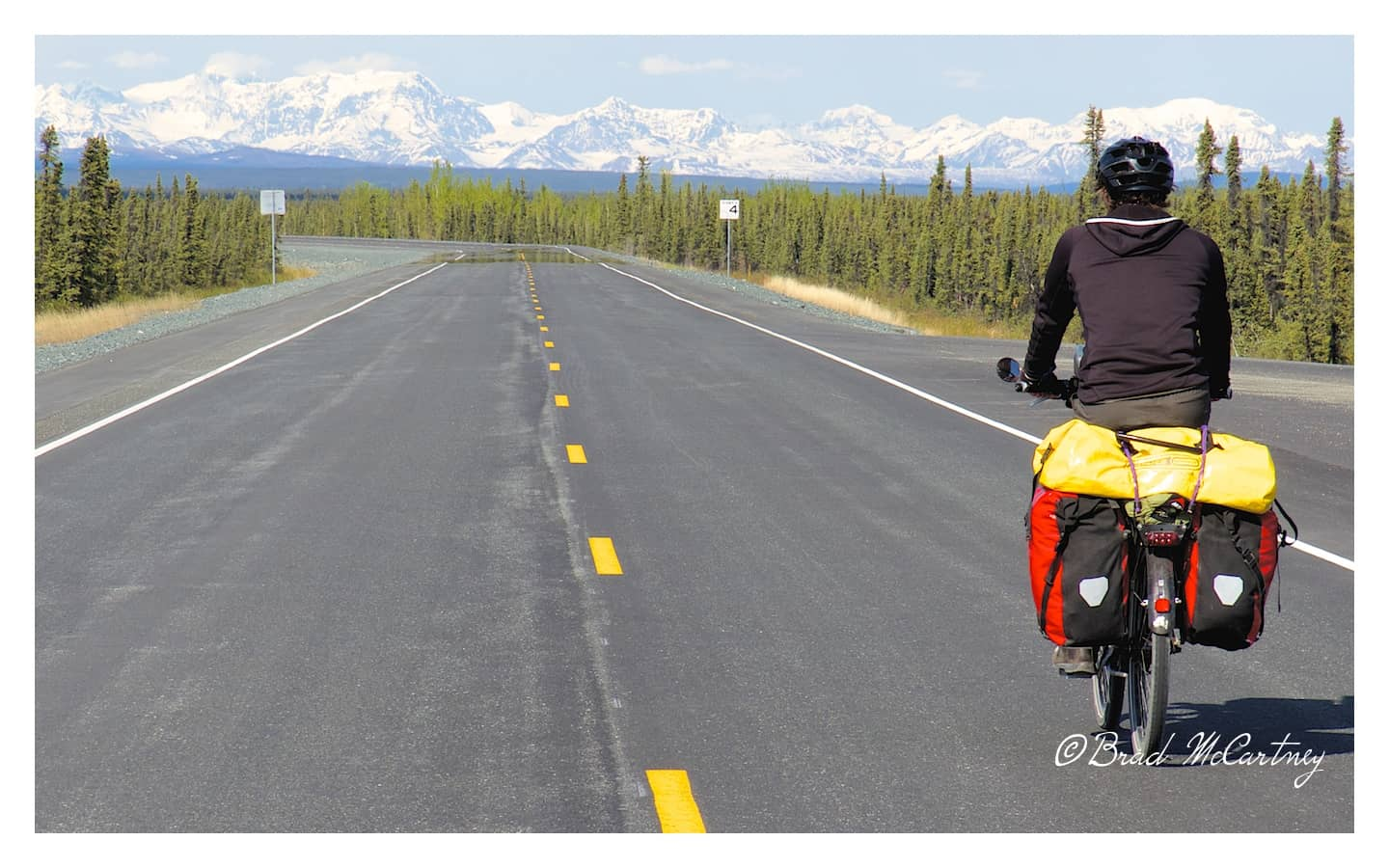The more remote section of the Richardson Hwy, with little traffic and awesome cycling.