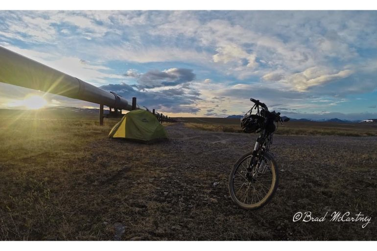 midnight sun campsite on Dalton Highway