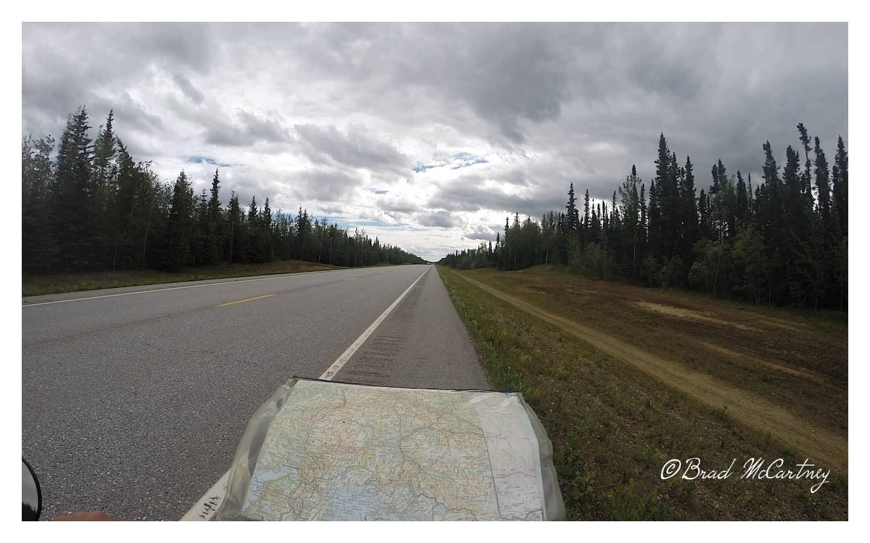 Random photo of typical scenery between Fairbanks and Tok