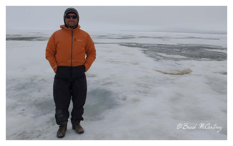 Frozen Arctic Ocean near Prudhoe Bay Alaska