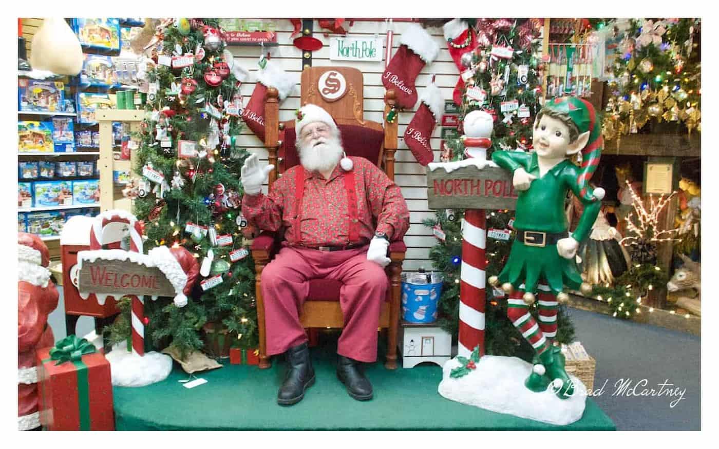 Santa at his home in the North Pole Alaska