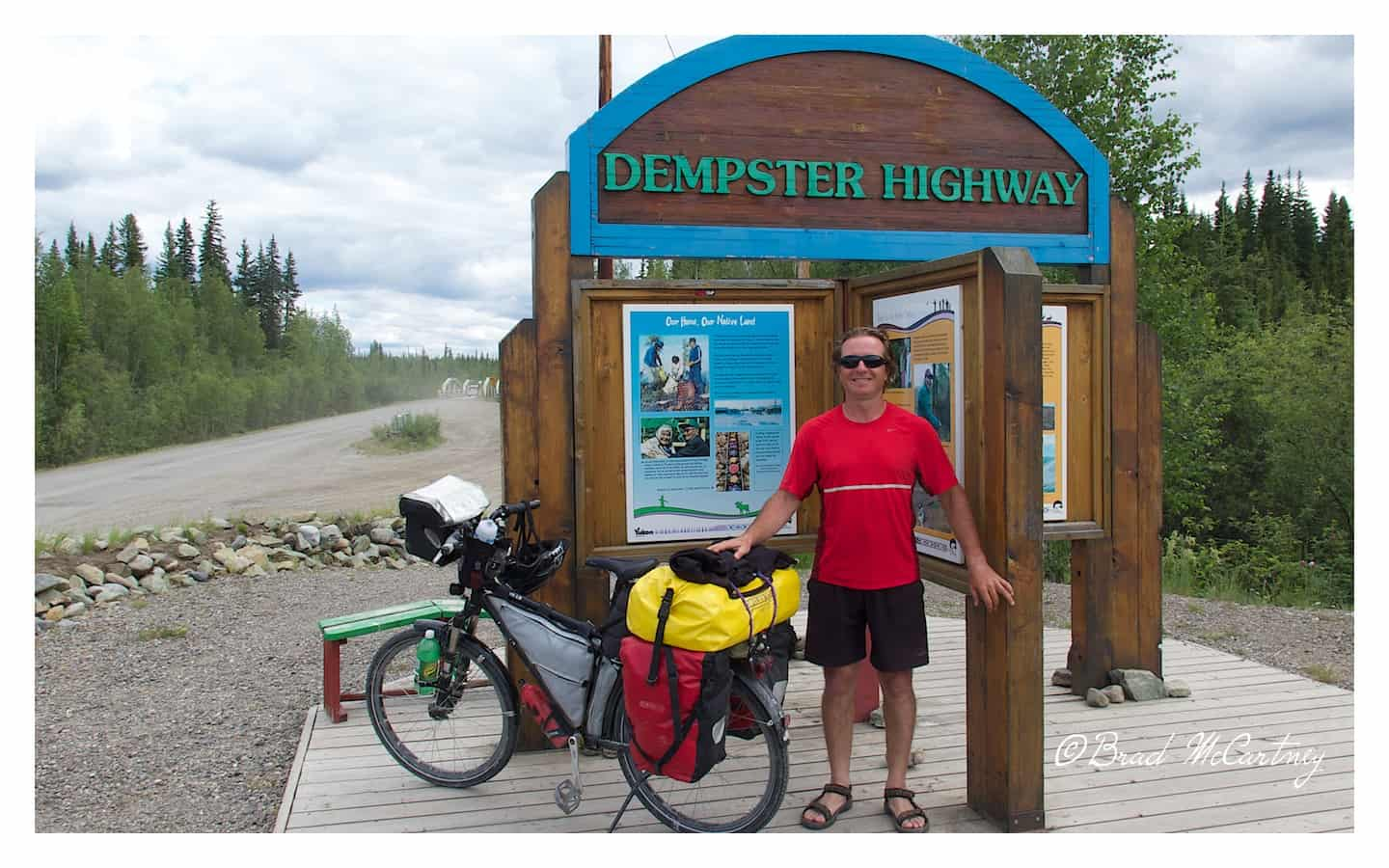 cycling Dempster Hwy