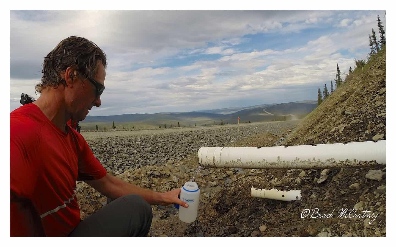 Spring water near the USA / Canada Border