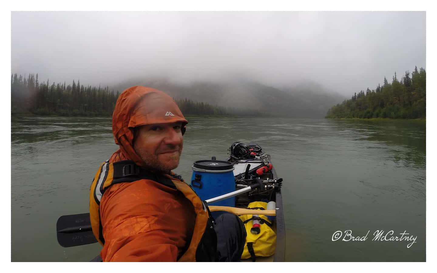 overcast and rainy yukon river