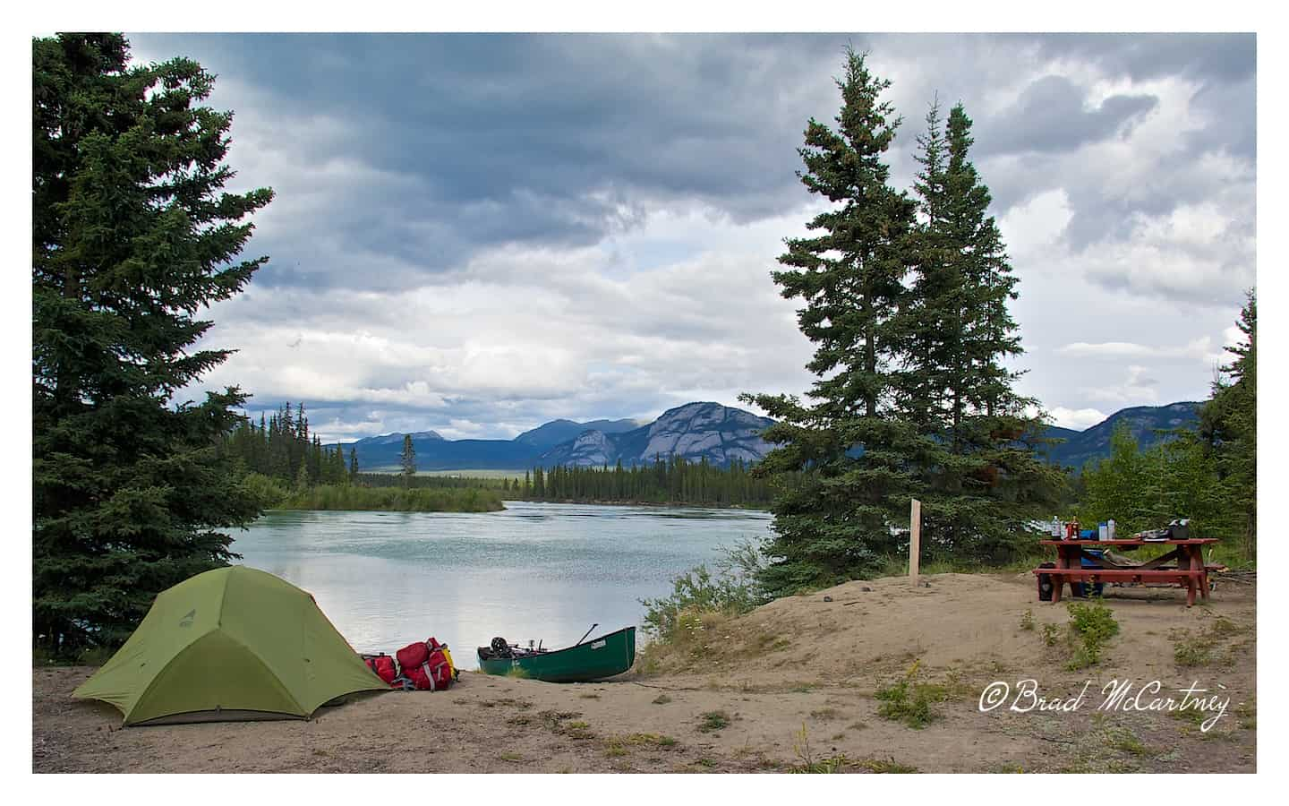 First campsite next to the Yukon river