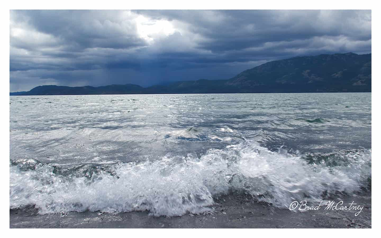 Storm approaching lake lebarge