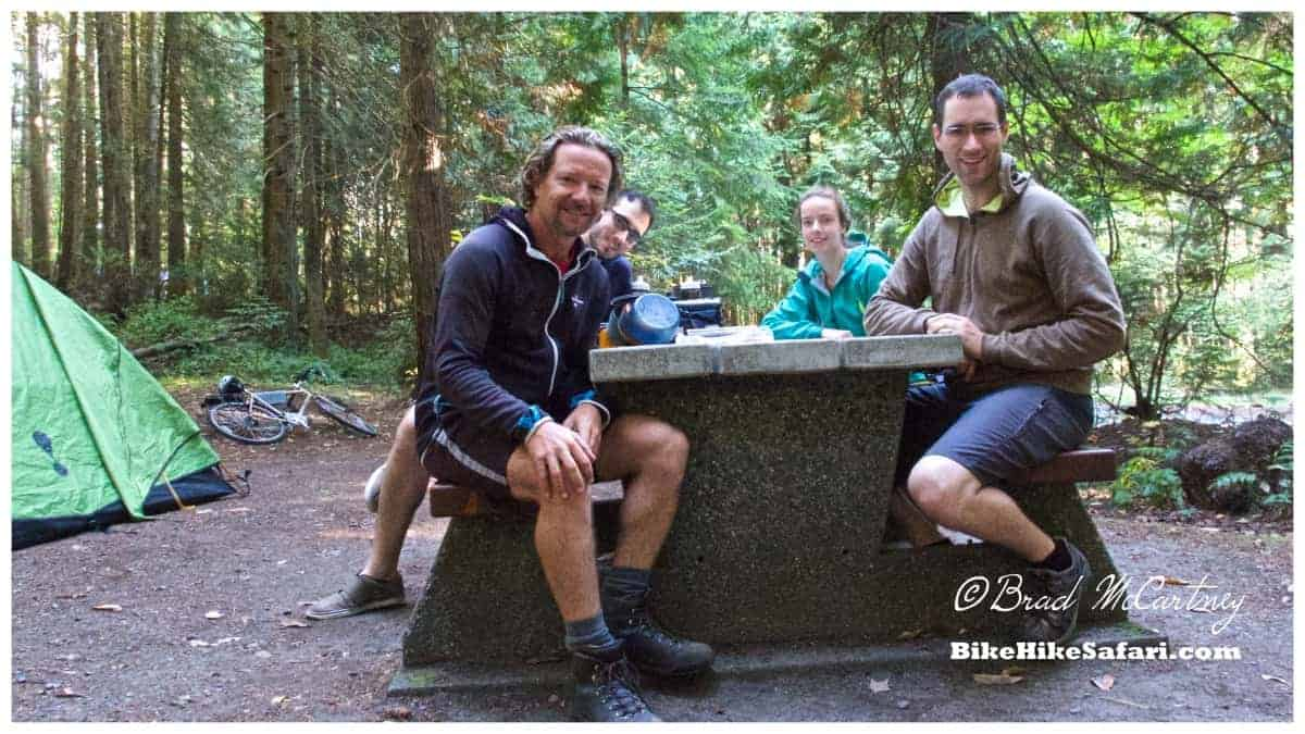 Myself, Julien, Patrice and David, all cycling vancouver island