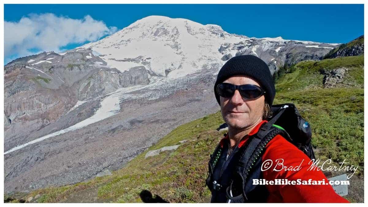 Mt Rainier and Nisqually Glacier