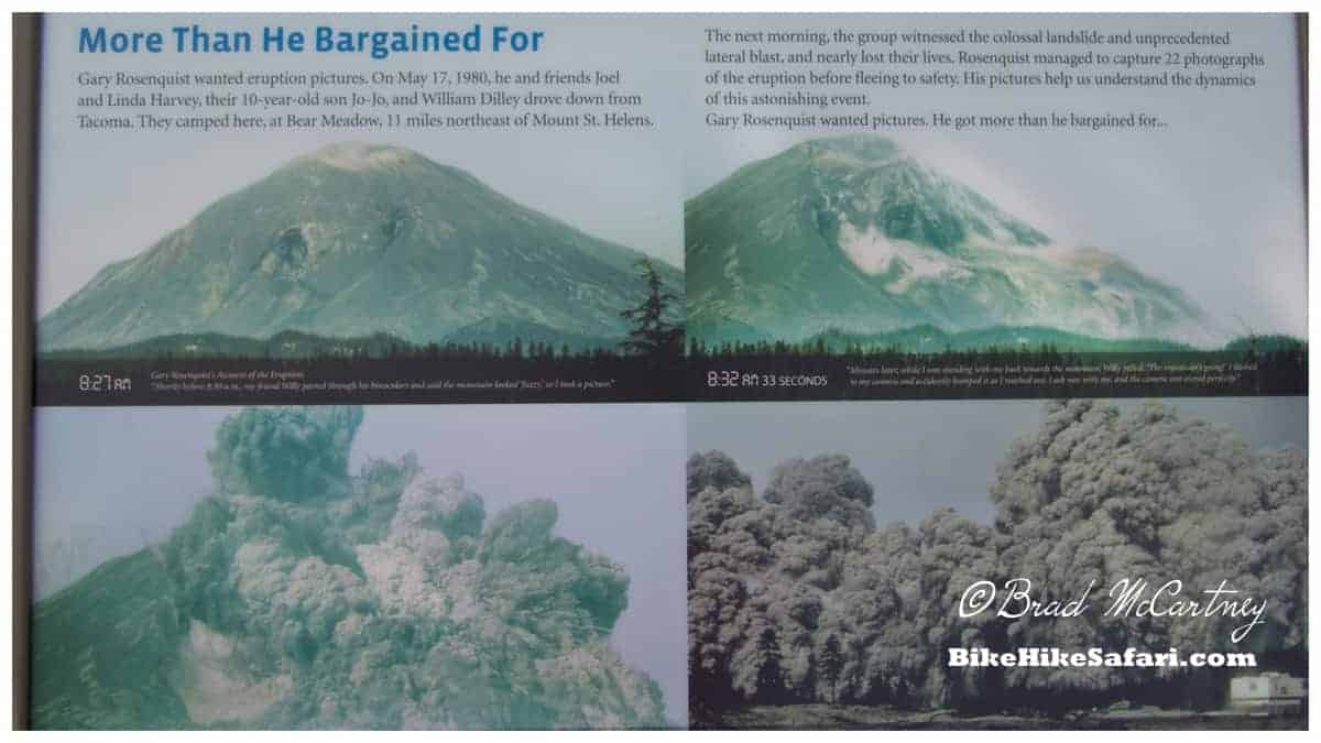 Photos of the eruption, before and during