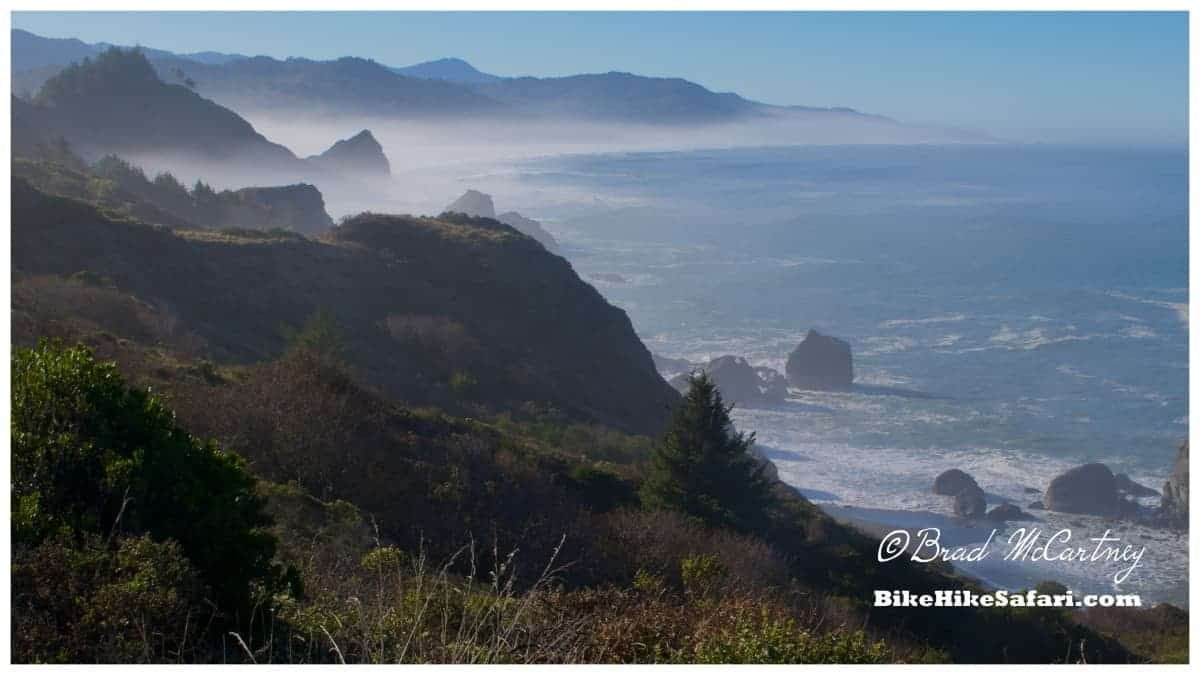 Morning coastal scenery between Humbug Mountain and Gold Beach