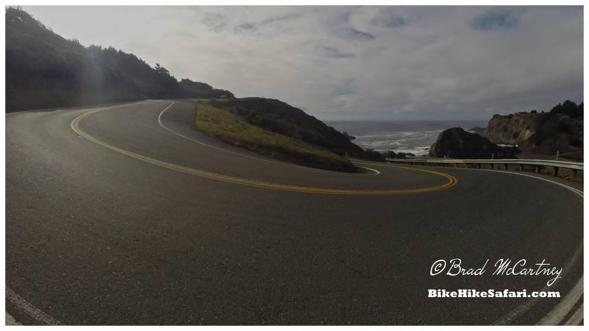 cycling the california coast steep descent