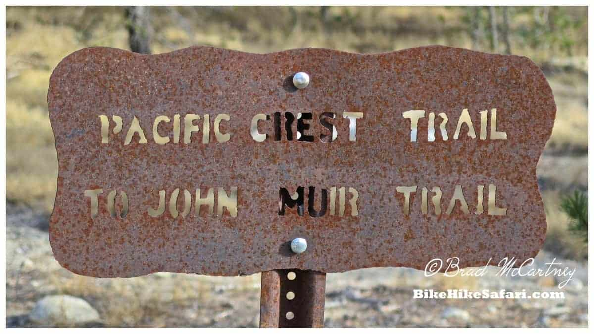 Pacific Crest trail and John Muir Trail