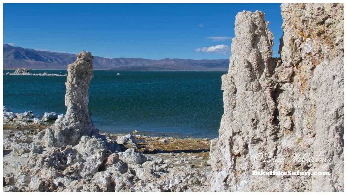 Formations on the bank of Mono Lake