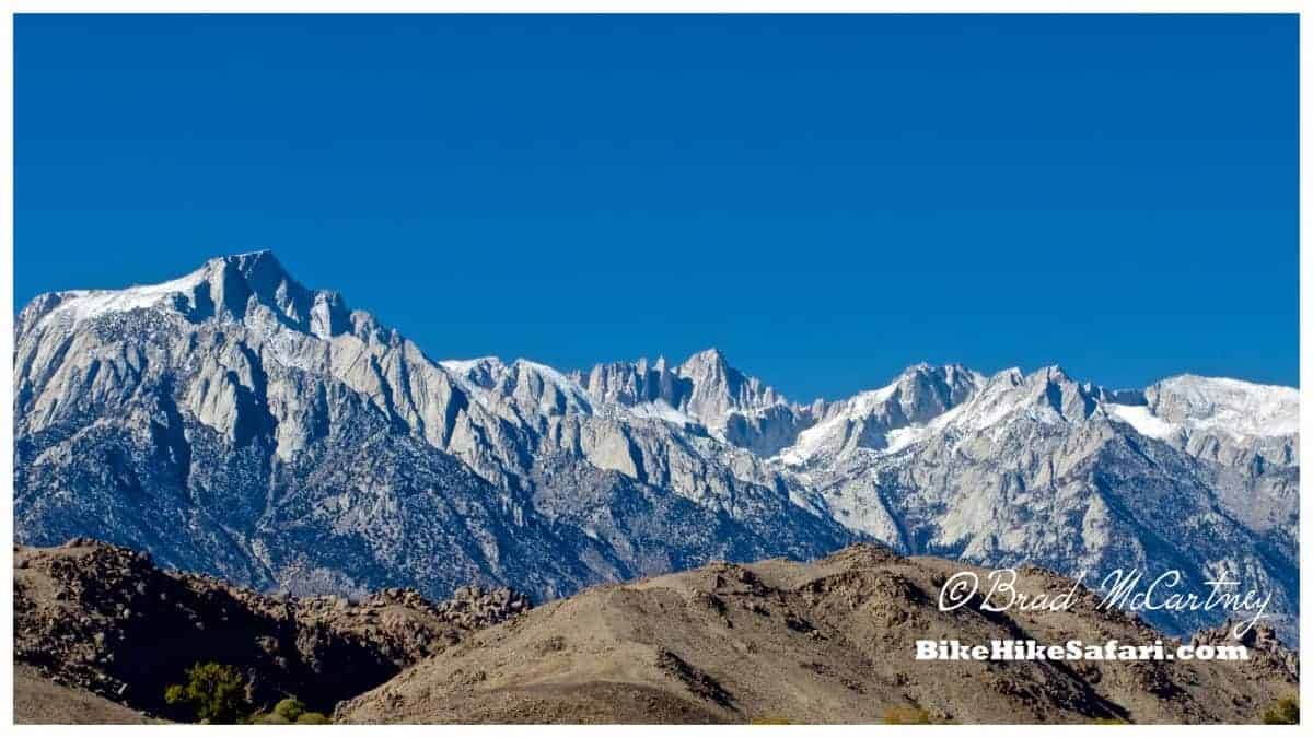 Mt Whitney will have to wait for another, warmer time for me to climb it!