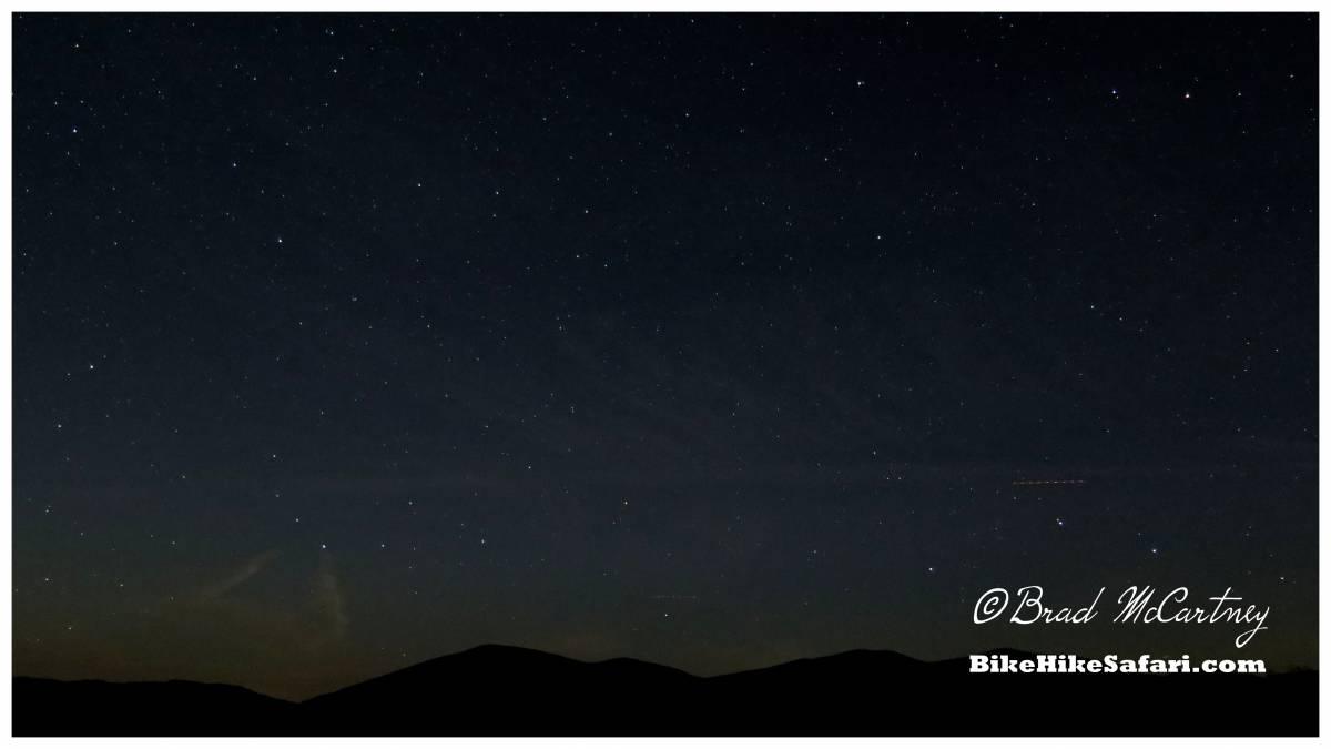 Stars over the dunes in the Mojave Desert