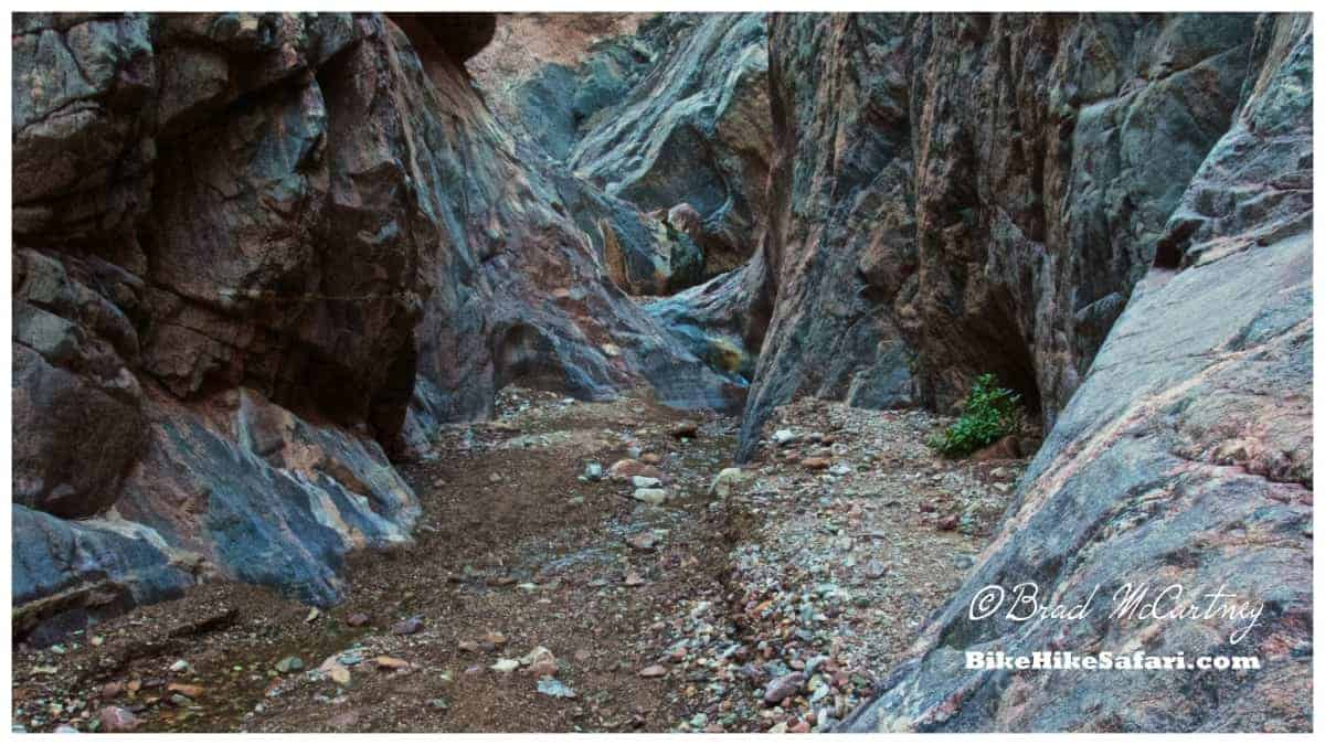 A short exploration of one of the side slot canyons within Granite Gorge