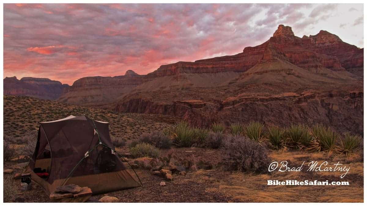 Campsite on the Tonto Trail, one very impressive sunset