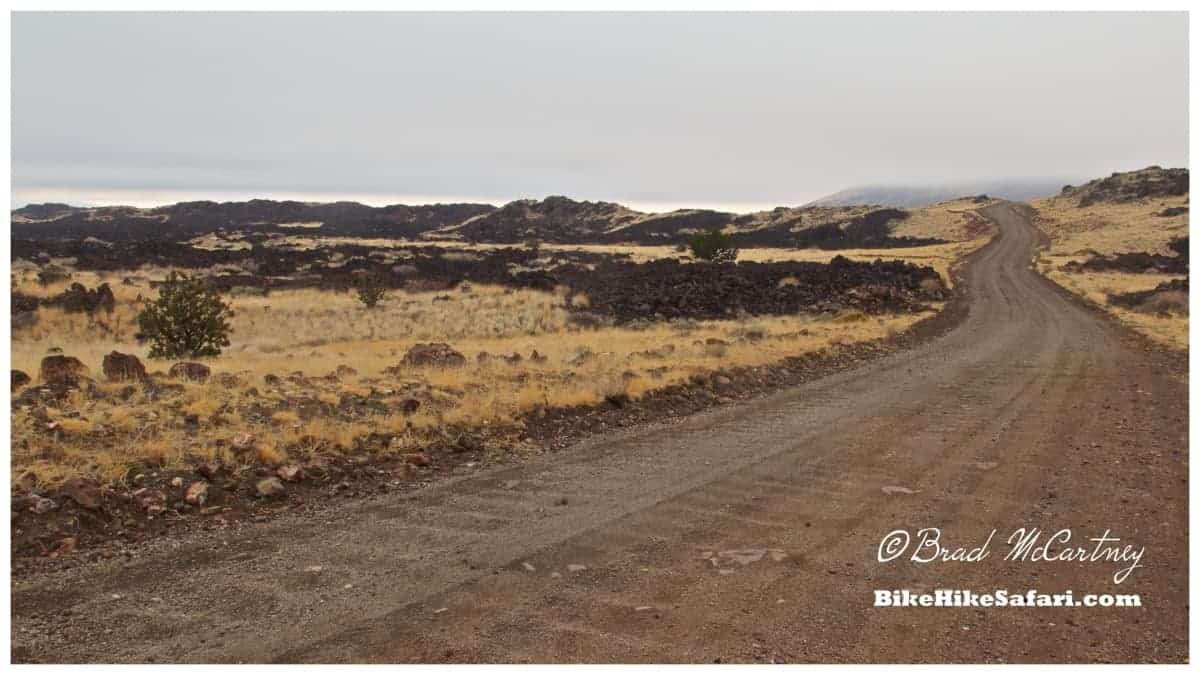 Cycling through a lava field