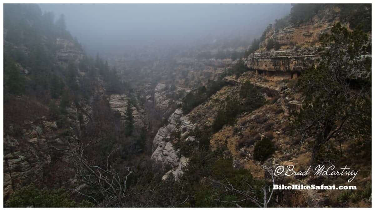 Walnut Canyon with its many Pueblos