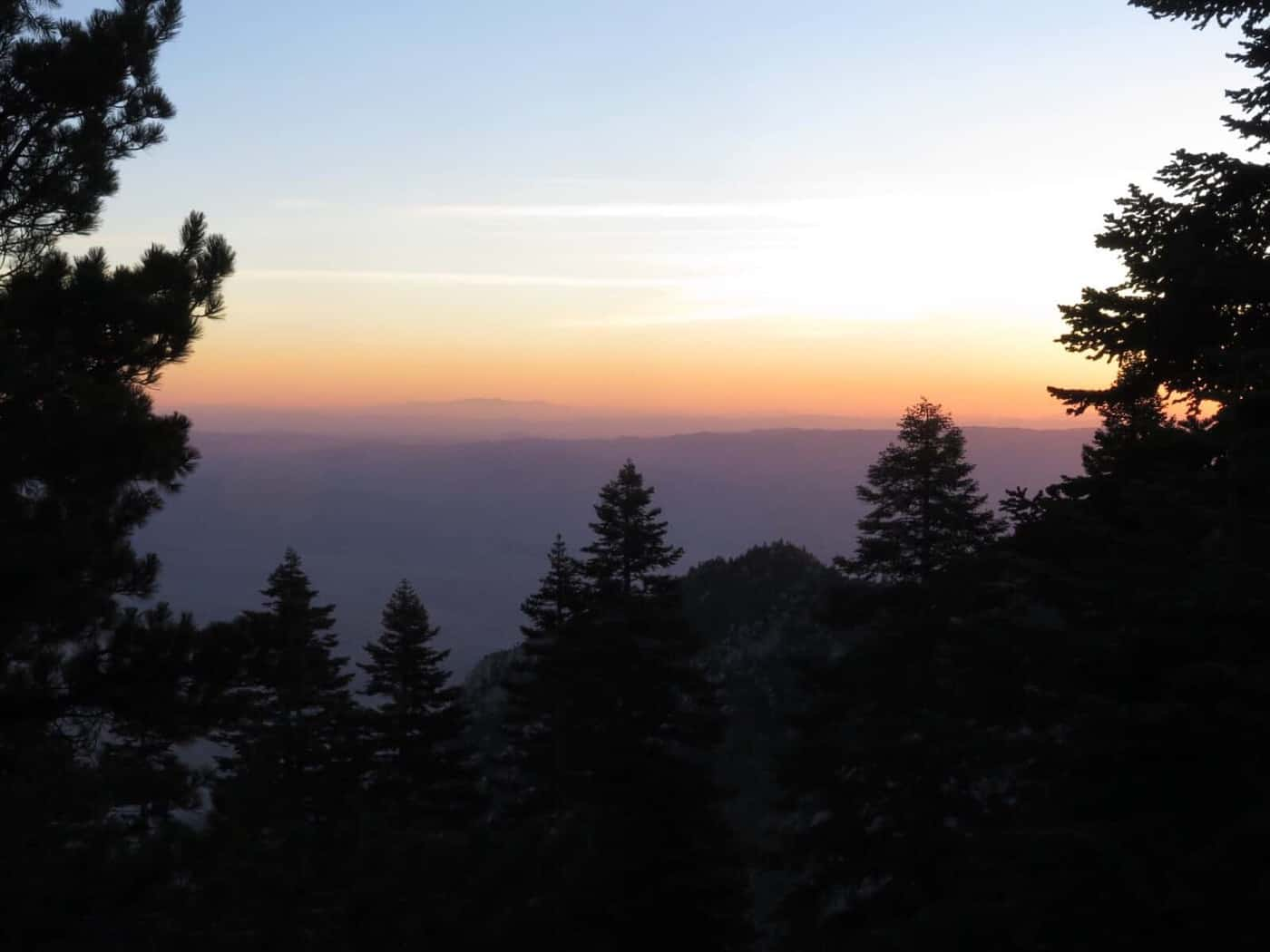 Sunrise Mt San Jacinto