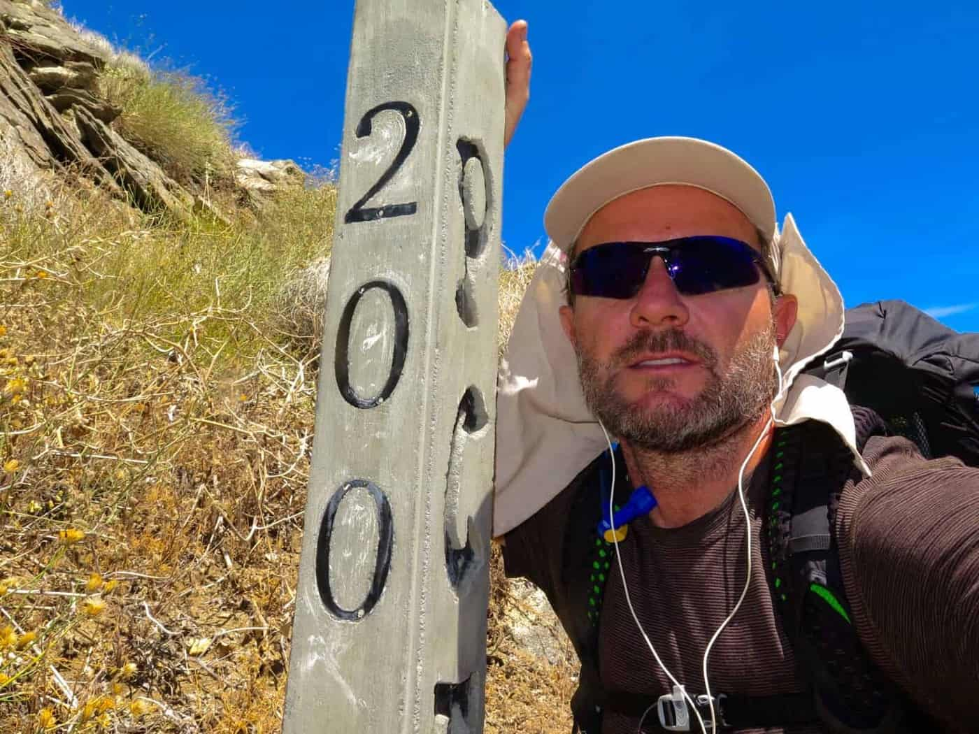 200 mile marker Pacific Crest Trail