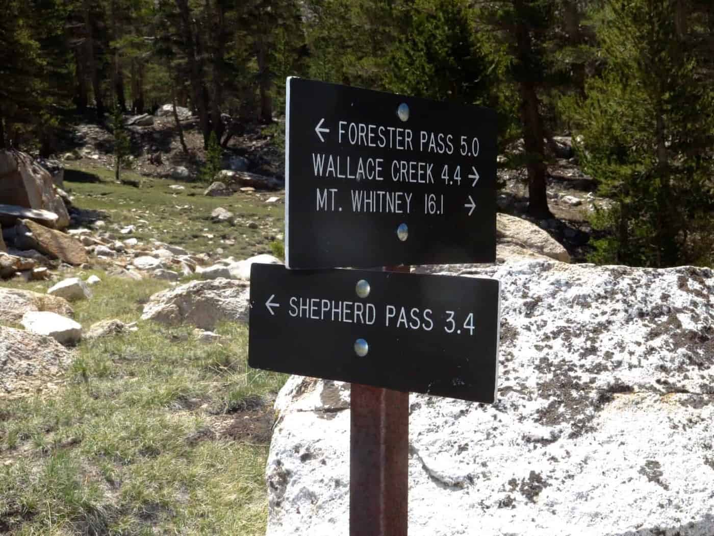 forester pass sign