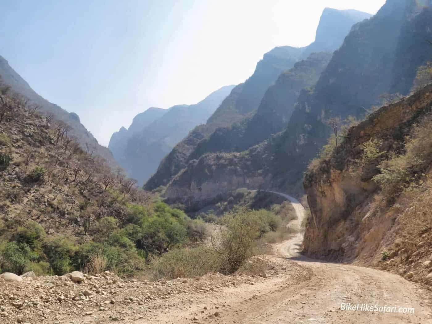 Cycling the canyon near Xichu