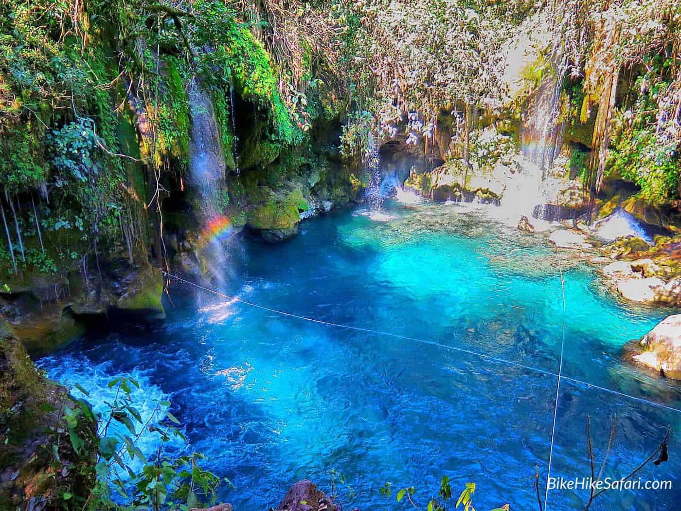 Puenta de dios waterfalls of the huesteca
