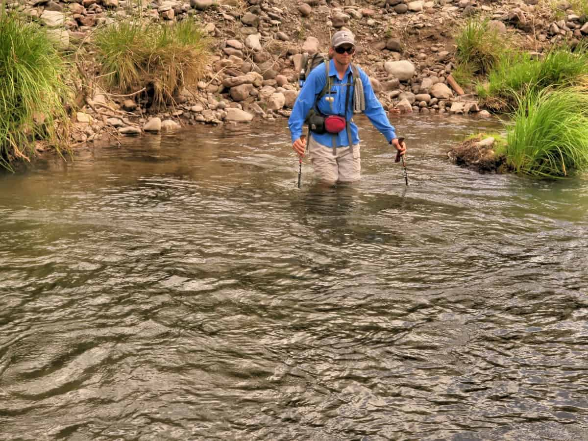 Crossing the Gila River on the CDT
