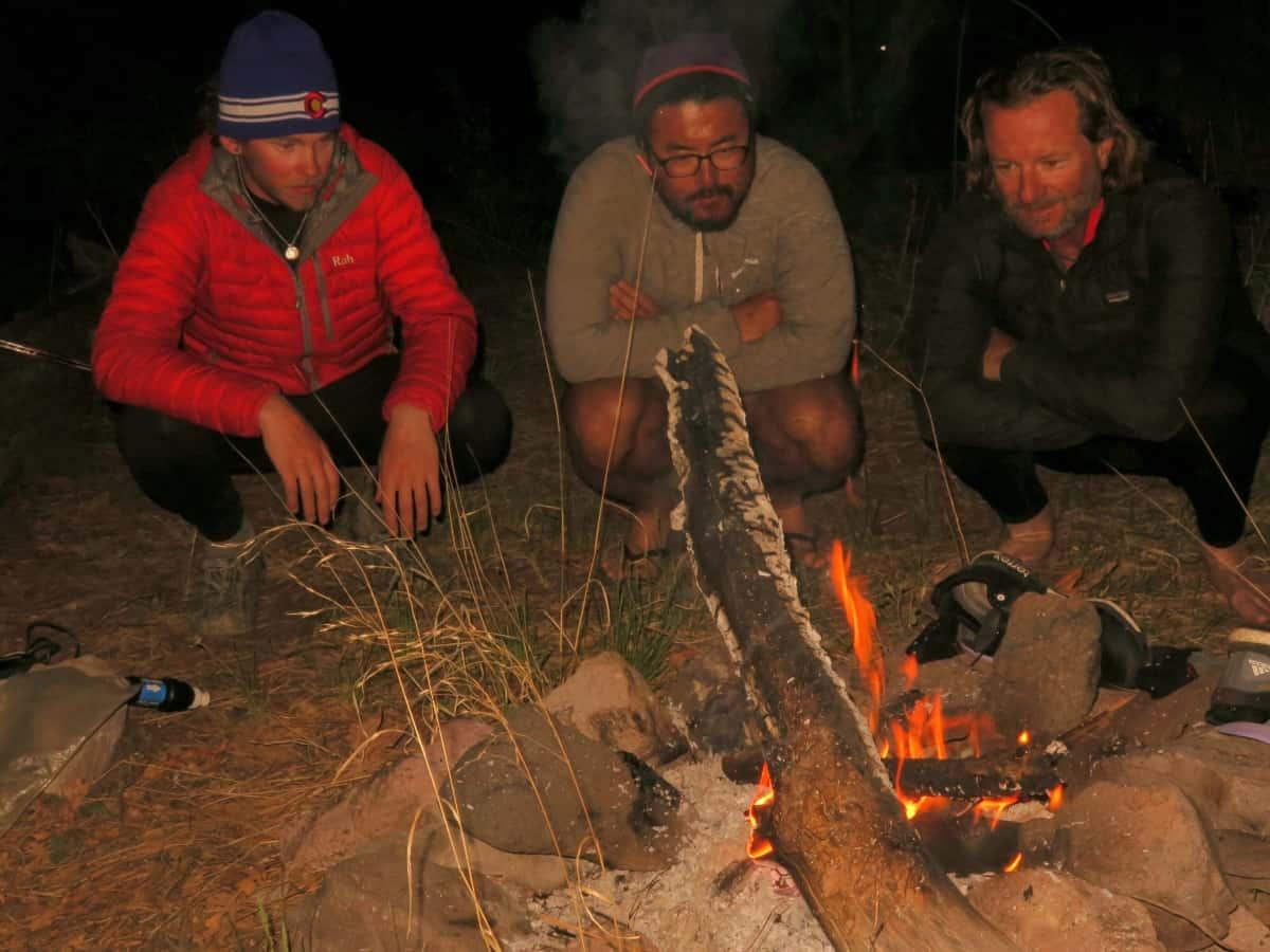 Gila River campfire