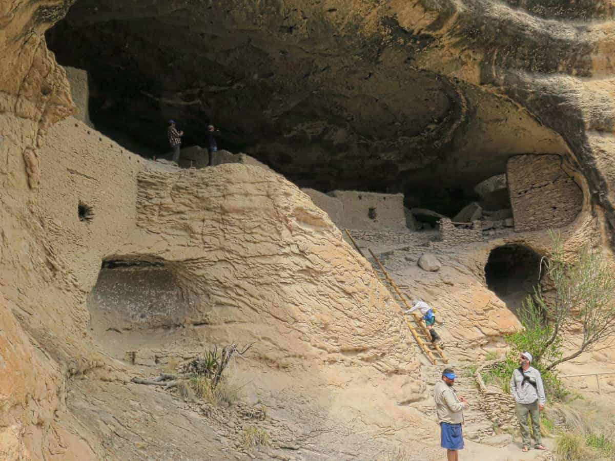 Gila Cliff Dwellings New Mexico part of the CDT