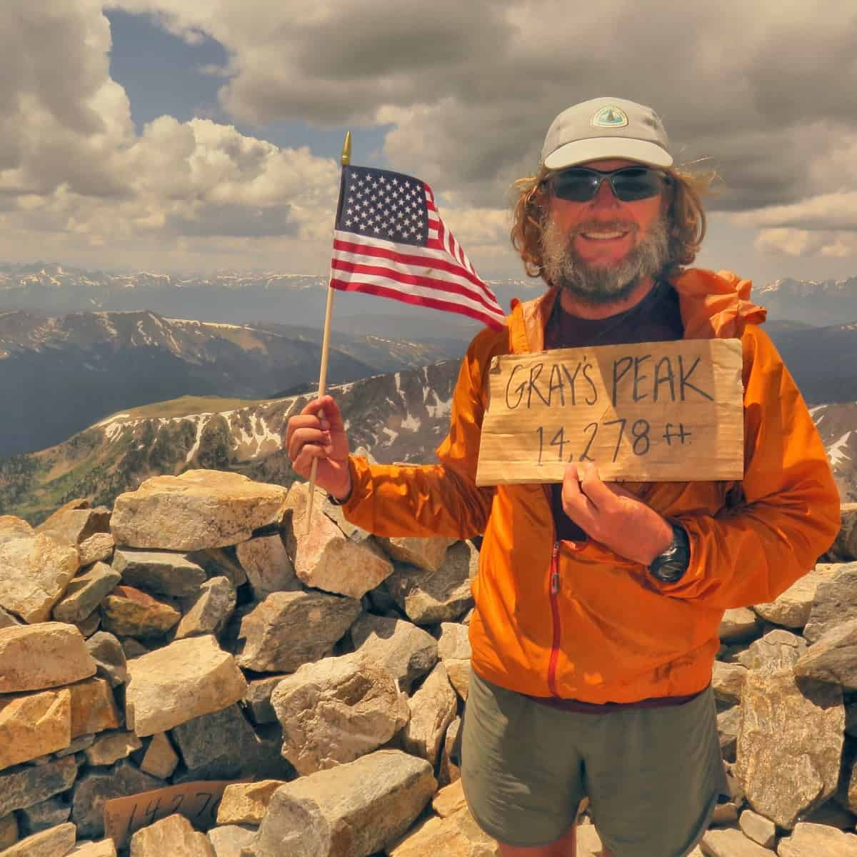 Summit of Grays Peak, Colorado. The highest point on the CDT