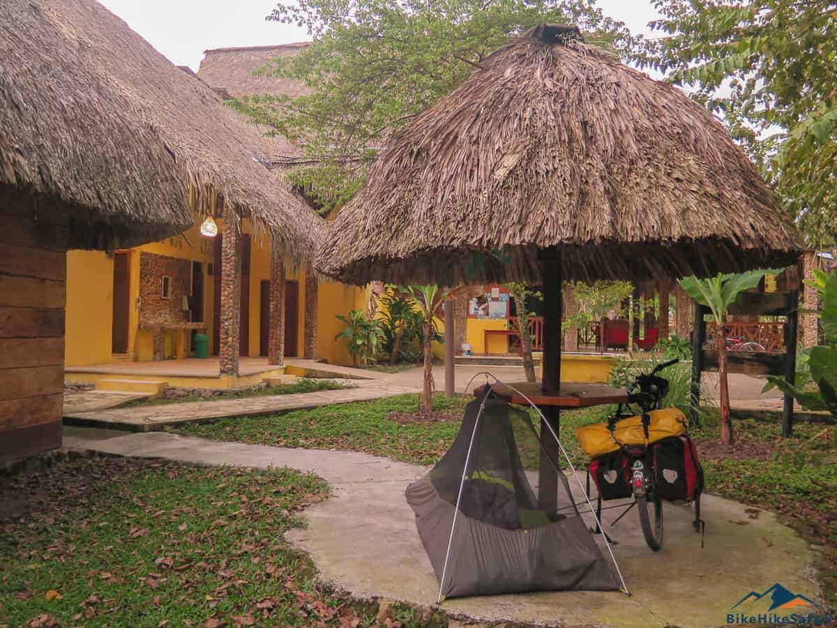 Camping near Yaxchilan at the resort