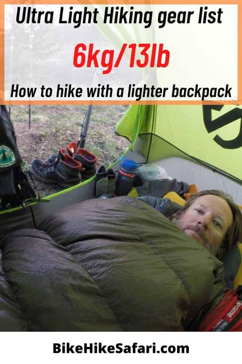 ultra light gear list