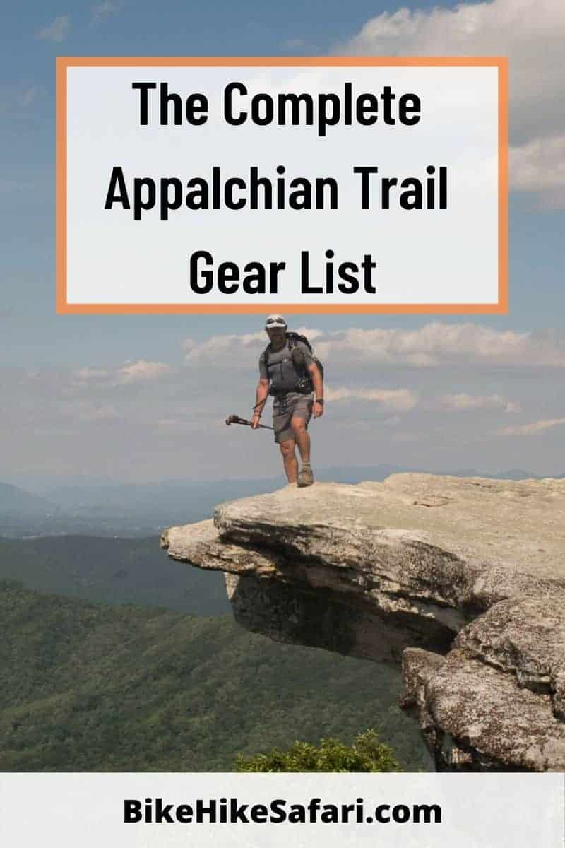 Appalachian Trail Gear List