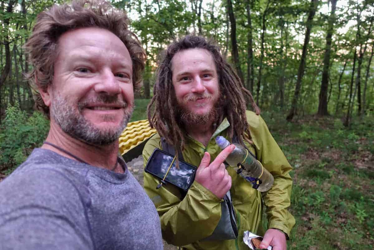 Knotts and me when he was trying to break the Appalachian Trail Fastest known time - FKT