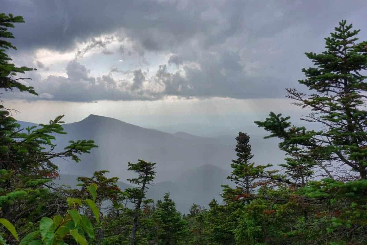 rain franconia ridge