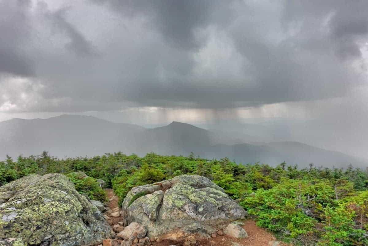 franconia ridge rain