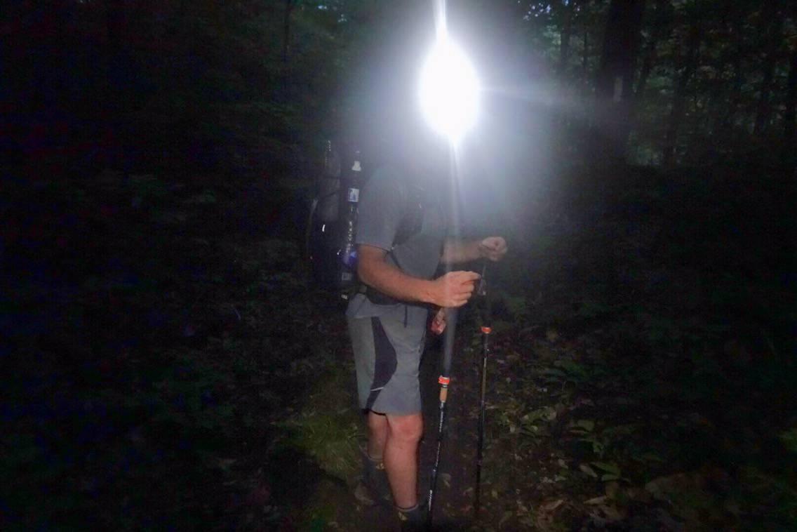night hiking