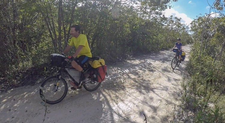bicycle touring Sian kaan biosphere reserve
