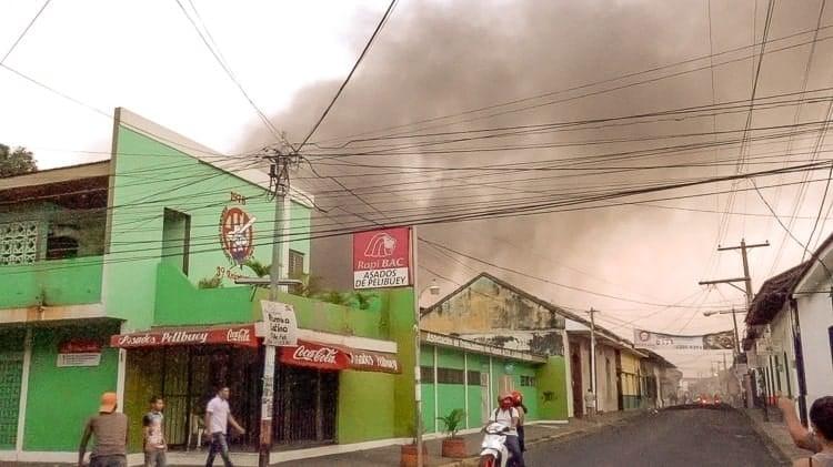 burning buildings leon
