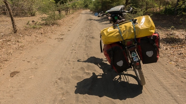 bicycle touring soft sand